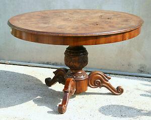 Tavoli Rotondi In Stile.Eccezionale Tavolo Rotondo Stile Antico Diametro Cm 123 Da