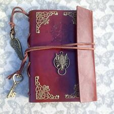 Pelle Notebook Giornale RPG Final Fantasy Wolf Steampunk
