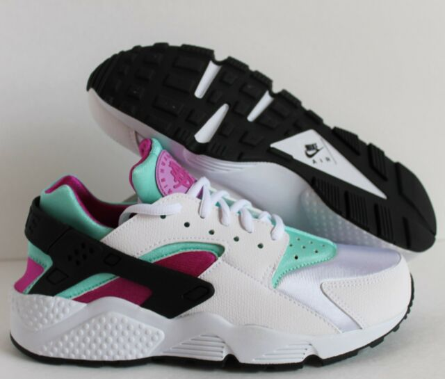 117c423641ea0 Nike Womens Air Huarache Run Sz 8.5 White Teal Fucshia Flash Artisan ...