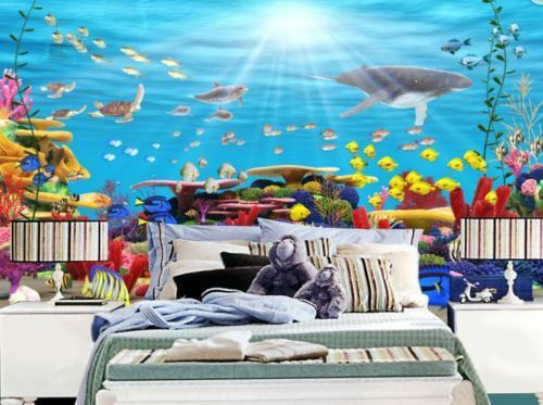 3D Sonne Korallen Seefisch 85 Tapete Wandgemälde Tapete Tapeten Bild Familie DE