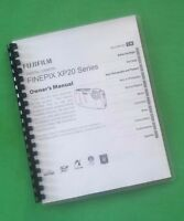 Laser Printed Fujifilm Xp20 Xp-20 Camera 126 Page Owners Manual Guide