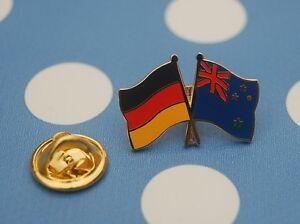 Freundschaftspin-Deutschland-Neuseeland-Pin-Button-Badge-Anstecknadel-Flaggenpin