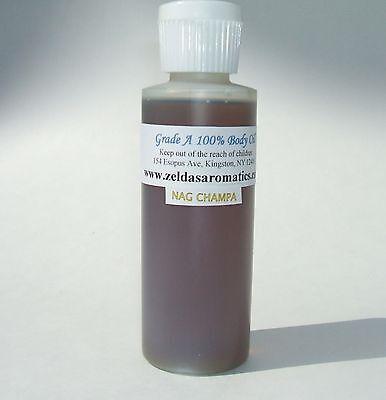 Zelda's Nag Champa 100% Body Oil Pure Aroma 4 oz