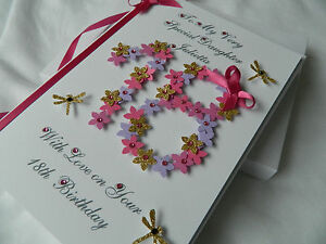 Image Is Loading Handmade Personalised Birthday Card 18th 20th Any Age