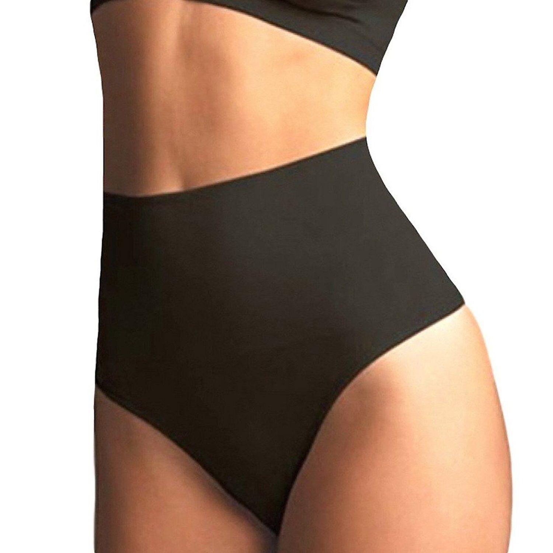 649dd616d02a0 US Women High Waist Cincher Girdle Tummy Control Thong Panties Slim Body  Shaper 7 7 of 12 ...