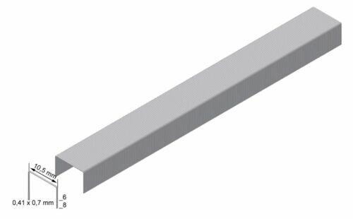 4000 x PREBENA Heftklammern verzinkt Typ VZ 10,5 mm Klammern Dachdecker Tacker
