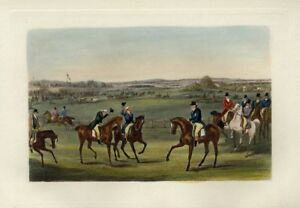 EQUESTRIAN-HORSES-AT-THE-HORSE-RACE-JOCKEYS-BIBURY-MEETING-IN-IT-039-S-PALMY-DAYS