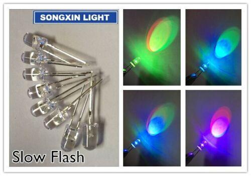10PCS 2PIN 5MM RGB 7 color Slow flash LED light-emitting diode LED New