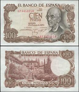 Espagne 100 Pesetas. NEUF 17.11.1970 (1974) Billet de banque Cat# P.152a