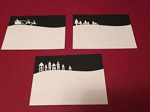Various-Landscape-die-cuts-Including-Christmas-design-FREE-UK-POSTAGE