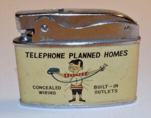 Vintage Penguin #19250 Superlative Automatic Lighter TELEPHONE PLANNED HOMES