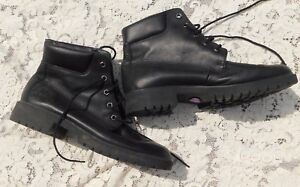 LADIES-GENTLY-WORN-TIMBERLAND-PREMIUM-BLACK-WATERPROOF-LEATHER-BOOTS-SIZE-8-5-M