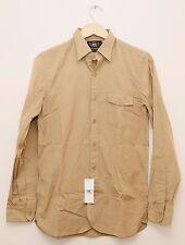 NEW Ralph Lauren RRL DOUBLE RL Men's Beige Casual Cotton Button Shirt S