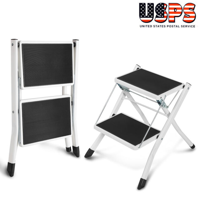 Superb Heavy Duty 2 Step Ladder Folding Non Slip Safety Stool Portable Industrial Home Pabps2019 Chair Design Images Pabps2019Com