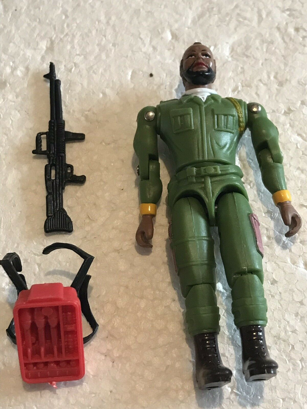 """1983 GALOOB A TEAM MR. T FIGURE MINT COMPLETE COMPLETE COMPLETE STRAIGHT OFF CARD 3.75"""" SCARCE FAB 73e762"""