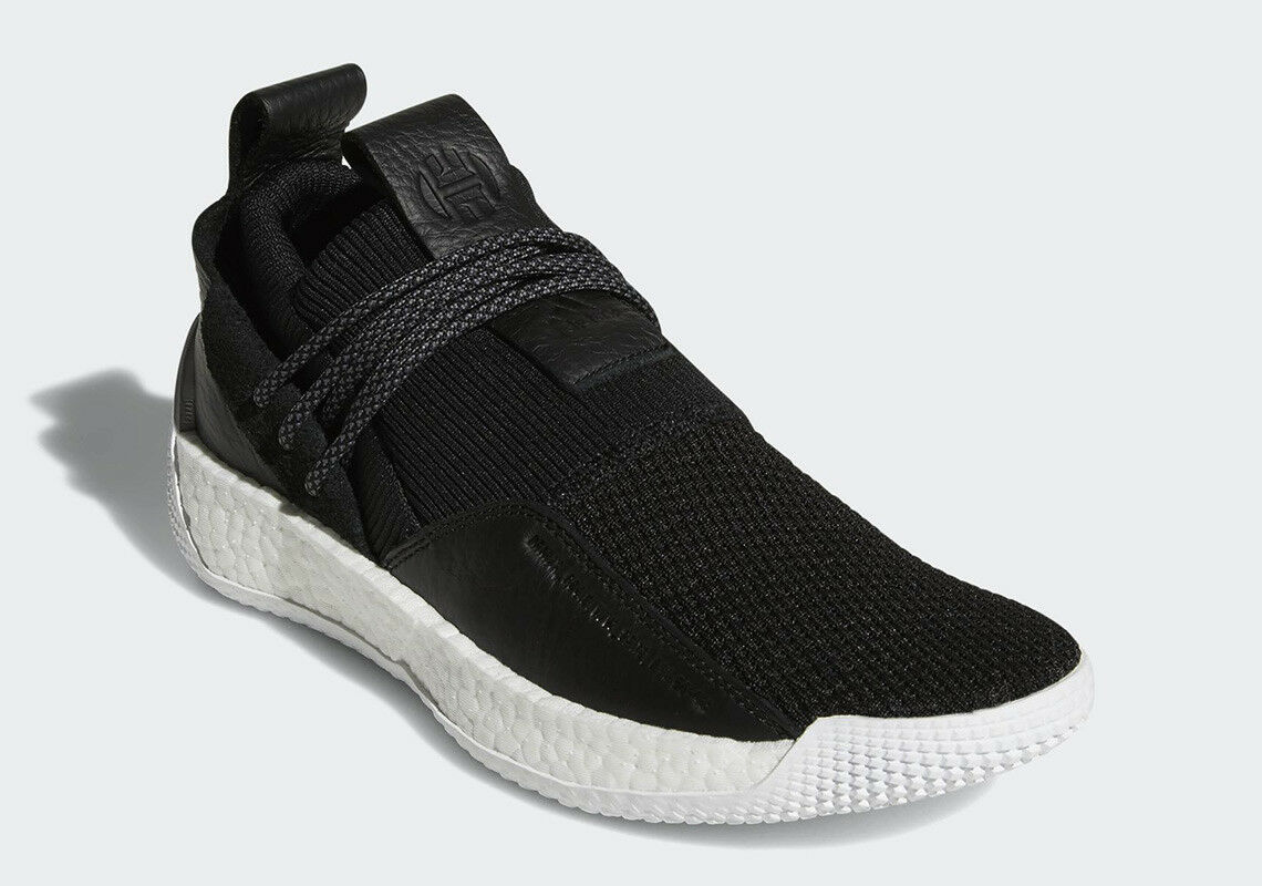 {BB7651} MEN'S ADIDAS HARDEN LS LACE BLACK WHITE NEW