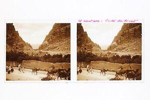 El-Kantara-Algeria-Foto-Stereo-L3n10-Vintage-Placca-Da-Lente