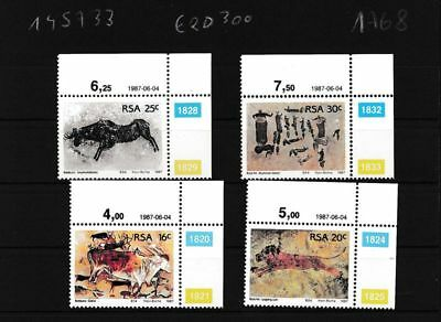Latest Collection Of Sudáfrica 706-709 Nuevo Con Goma Original Eckrandstücke Mit Ausgabedatum Choice Materials Topical Stamps Art