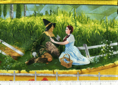 bty  classic judy garland ~ THE WIZARD OF OZ ~ fabric border quilting treasues