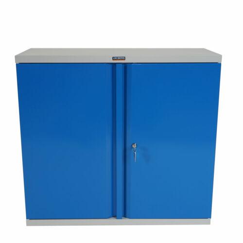 2 Türen 84x92x37cm blau Aktenschrank Valberg H330 Metallschrank Büroschrank