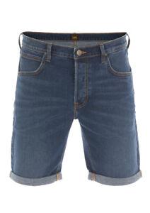 Lee Herren Jeans Short Regular Stretch Shorts Baumwolle Bermuda Sommer Hose NEU
