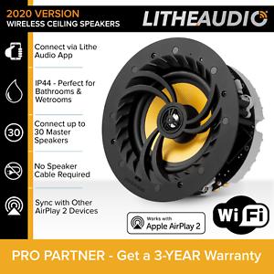 Lithe-Audio-6-5-034-Multi-Room-Wifi-plafond-haut-parleur-Single-APP-Controlee