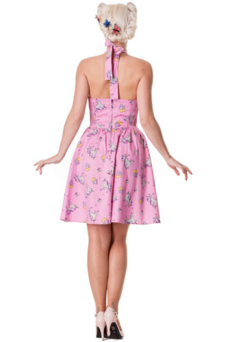 Gothique Hell De Rockabilly 50 Kleid Jupon 4231 Licorne Robe Gothique Rose Bunny ZvqvHWxnfF
