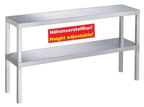 AG Aufsatzbord Schrank 2 etagig Edelstahl 1800x300x650mm