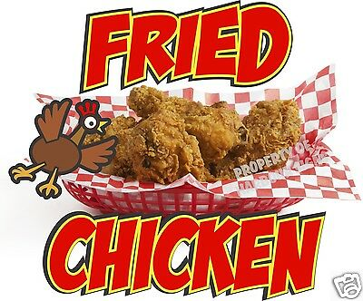Decal Stickers Fried Chicken Food and Drink Vinyl Store Sign Label