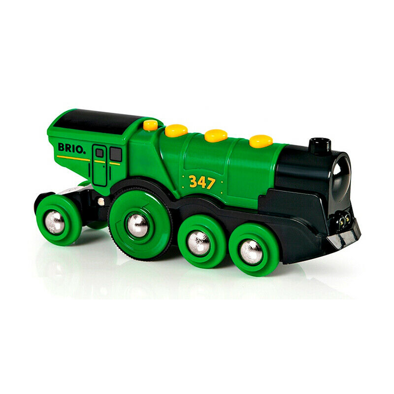 Brio 33593 Battery Locomotive   Green Gustav   for Wooden Railroad New