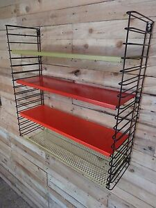 1960s RETRO VINTAGE  STRINGDUTCH COLOURED METAL TOMADO WALL SHELVING B9 - <span itemprop=availableAtOrFrom>Knaresborough, United Kingdom</span> - I do offer a return policy (within 7 days of receipt) however I cannot refund any postage! If you have an issue with any of my items sold to you, please contact me before you give a - Knaresborough, United Kingdom