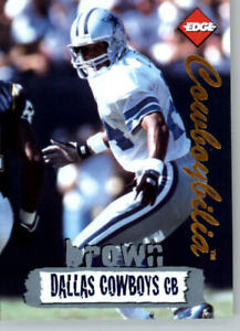 1996 Collectors Edge Cowboybilia SN 03139/10000 #Q-10 Larry Brown- Cowboys