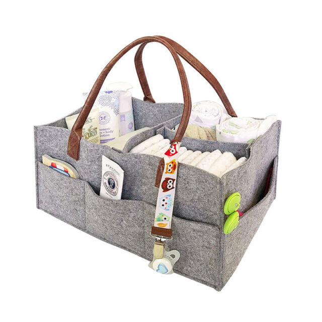 Baby Diaper Wipes Bag Caddy Nursery Storage Bin Infant Ny Organizer Basket