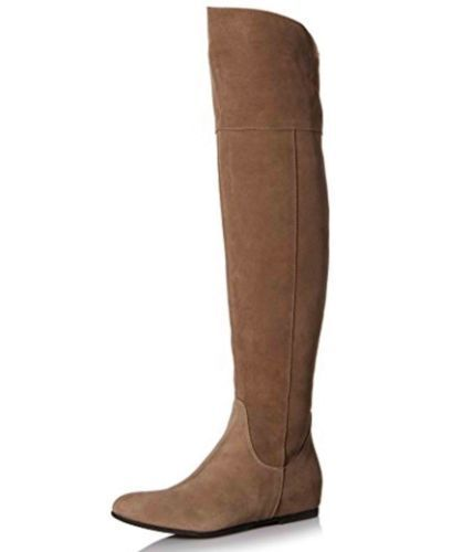 Butter 1758 Womens Dished Taupe Over-The-Knee Boots shoes 37