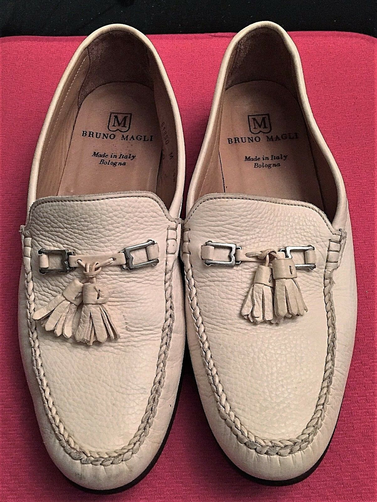 BRUNO MAGLI  FRANCESCO  homme beige veau Mocassin Chaussures Taille 10.5 m Boutique Demos