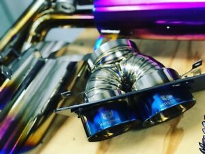 LAMBORGHINI GALLARDO TITANIUM QUAD RACING EXHAUST TIPS by Millionaire Racing!