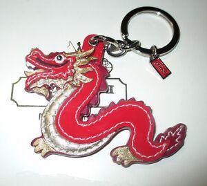 Key Fob Keychain >> Coach Year Of The Dragon Key Fob Keychain Charm New Rare Ebay