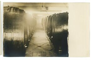 RPPC-Wine-Barrels-Widmer-039-s-Winery-NAPLES-NY-Industrial-Real-Photo-Postcard-1