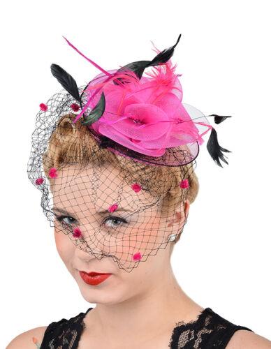 Edles 50s Feather NETZTÜLL Feder Headpiece Rockabilly