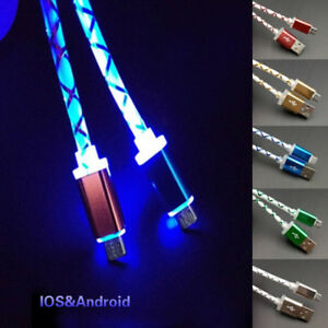 Smart-phone-retractable-visible-led-light-micro-usb-data-sync-charger-cable-BDAU