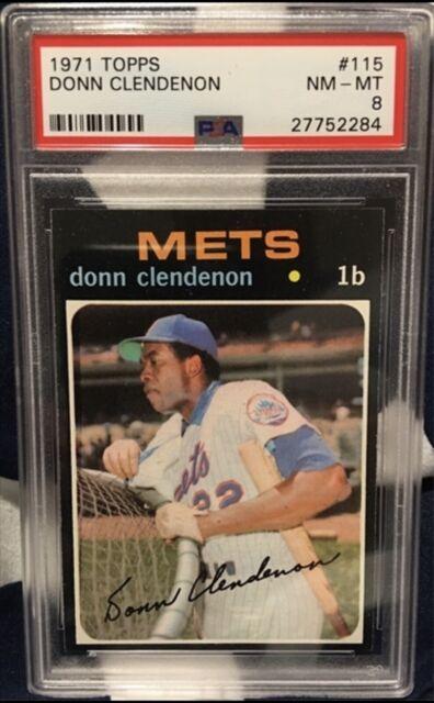 1971 Topps Baseball #115 Donn Clendenon PSA 8 Set Break
