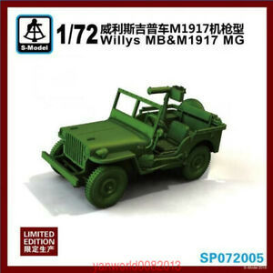 S-model-1-72-SP072005-Willys-MB-amp-M1917-MG-1pcs