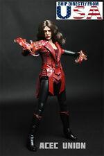 1/6 Scarlet Witch Clothing Set For Elizabeth Olsen Hot Toys Phicen Figure U.S.A.