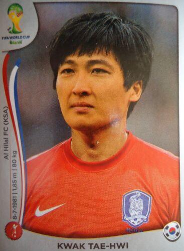 Panini 624 Kwak Tae-Hwi Korea Republic FIFA WM 2014 Brasilien
