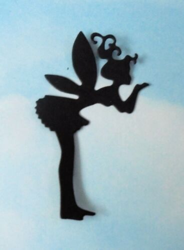 fairy jar Die Cut fairies mix x 8 black topper, silhouette