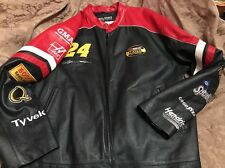 WILSONS LEATHER Jacket NASCAR Chase Authentics Jeff Gordon #24 2XL XXL