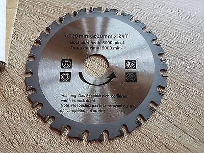 Hartmetall Sägeblatt Handkreissäge D= 110mm