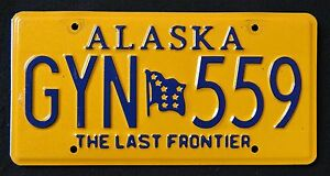 ALASKA-034-THE-LAST-FRONTIER-FLAG-GYN-559-034-AK-Graphic-License-Plate
