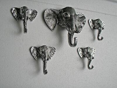 Decoratuive Elephant Figurine Hooks Set of 5 Pieces us.
