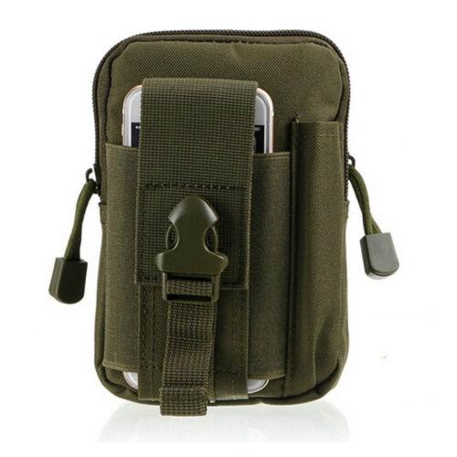 Outdoor Military Tactical Holster Molle Waist Belt Bag Zip Hip Phone Wallet Case